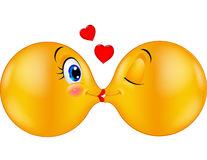 cartoon-kissing-emoticon-illustration-46948231
